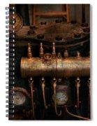 Steampunk - Plumbing - The Valve Matrix Spiral Notebook
