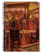 Steampunk Speakeasy Mancave Bar Art Spiral Notebook