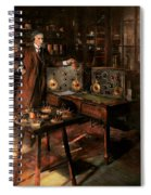 Steampunk - The Time Traveler 1920 Spiral Notebook