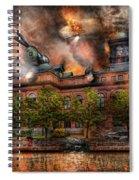 Steampunk - The War Has Begun Spiral Notebook