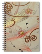 Steampunked Columbine Spiral Notebook