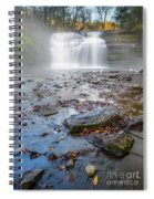 Steamy Morning At Pixley Falls Spiral Notebook