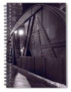 Steel Bridge Chicago Black And White Spiral Notebook