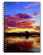 Steel Bridge Sunset Silhouette Spiral Notebook