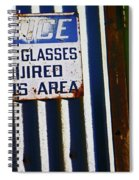 Steel City--safety Glasses Spiral Notebook