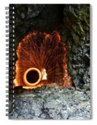 Steel Wool Photography In A Cave Spiral Notebook