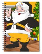 Steelers Santa Claus Spiral Notebook