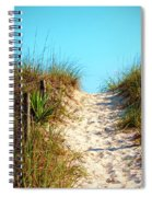 Steep Beach Path Spiral Notebook