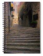 Steep Steps Of Girona Spiral Notebook