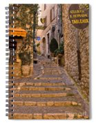 Steep Street In St Paul De Vence Spiral Notebook