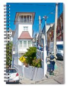 Steep Streets Up The Hills In Valparaiso-chile   Spiral Notebook