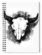 Steer Skull Tee Spiral Notebook