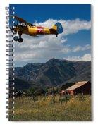 Steerman Bi-plane Spiral Notebook