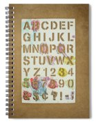 Stencil Alphabet Fun Spiral Notebook