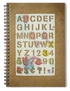 Stencil Alphabet Fun Spiral Notebook
