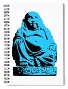 Stencil Buddha Spiral Notebook