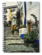 Step Street In Obidos Spiral Notebook