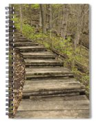 Step Trail In Woods 17 B Spiral Notebook