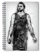 Steph Curry, Golden State Warriors - 18 Spiral Notebook