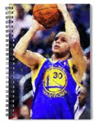 Steph Curry, Golden State Warriors - 19 Spiral Notebook