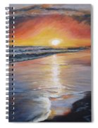 Stephanie's Sunset Spiral Notebook