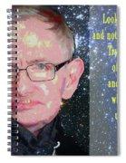 Stephen Hawking Poster Spiral Notebook