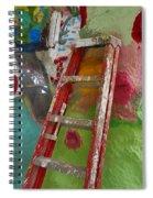 Stepladder To Heaven Spiral Notebook