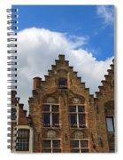 Stepped Gables Of The Brick Houses In Jan Van Eyck Square Spiral Notebook