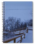 Steps Into Winter Spiral Notebook