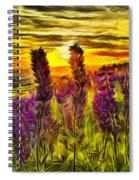 Steptoe Lupine  Spiral Notebook