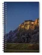 Stirling Castle Scotland At Night Spiral Notebook