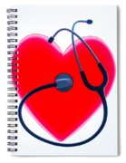 Stethoscope And Plastic Heart Spiral Notebook