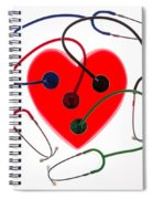 Stethoscopes And Plastic Heart Spiral Notebook