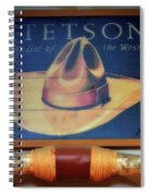 Stetson The Hat Of The West Signage Spiral Notebook