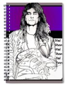 Steve Vai Sitting Spiral Notebook