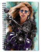 Steven Tyler On A Bike Spiral Notebook