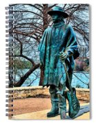 Stevie Ray Vaughan Vibrant Colors Spiral Notebook