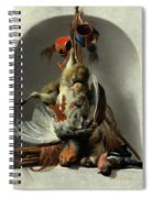 Stil Life With Birds And Hunting Gear In A Niche  Spiral Notebook