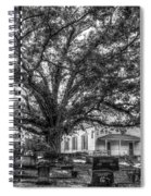 Still Faithful B W God Bethany Presbyterian Church The Old Oak Tree Greene County Georgia Art Spiral Notebook