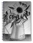 Still Life - 6 Sunflowers In A Jug Spiral Notebook