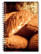 Still Life Bakery Art. Shortbread Cookies Spiral Notebook