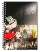 Still Life Christmas Scene Spiral Notebook