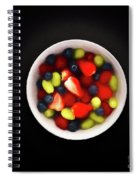 Still Life Of A Bowl Of Fresh Fruit Salad. Spiral Notebook