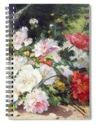Still Life Of Flowers Spiral Notebook