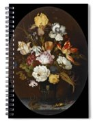 Still Life Of Flowers In A Glass Vase Spiral Notebook