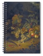 Still Life Of Fruit With A Monkey Spiral Notebook