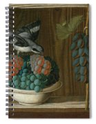 Still Life Of Grapes With A Gray Shrike Spiral Notebook