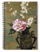 Still Life Of Pink Roses Spiral Notebook