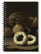 Still Life Of Sugared Fruits Spiral Notebook