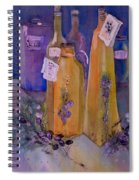 Still Life Olive Oil And Olive Twigs Spiral Notebook